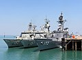 HMAS Warramunga, HMAS Perth, and JS Shimakaze moored at Fort Hill Wharf, -1 September 2012 a.jpg
