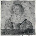 HUA-106416-Portret van Anna Maria van Schurman geboren Keulen 5 november 1607 schrijfster en dichteres te Utrecht overleden Wiewerd 5 mei 1678 Borstbeeld van vor.jpg