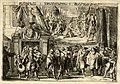 HUA-32355-Twee afbeeldingen van gebeurtenissen tijdens de oorlog met Frankrijk in UtrechtOnder de graaf van Hoorne komende uit een poort met het provinciewapen .jpg