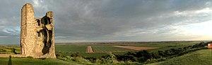 Hadleigh Castle - Image: Hadleigh Castle panorama