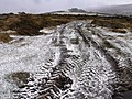 Hail filled tyre tracks, near Mel Tor, Dartmoor - geograph.org.uk - 1126816.jpg