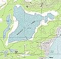 Halalii Lake on topo map of southern Niihau Island, Hawaii.jpg