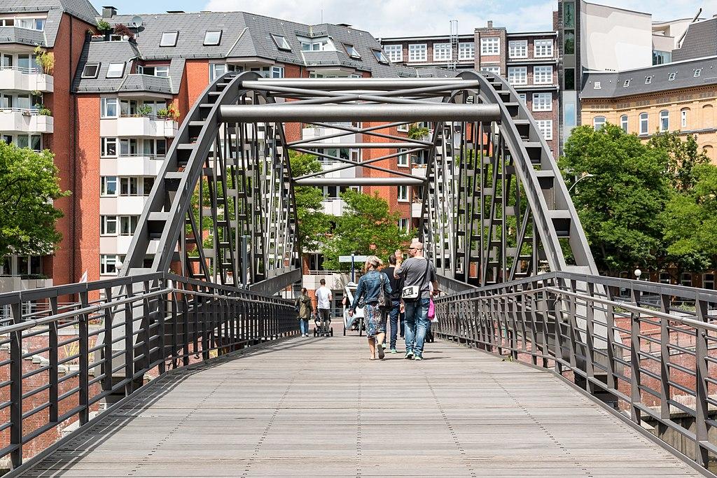 Hamburg, Speicherstadt, Kibbelstegbrücke -- 2016 -- 3007