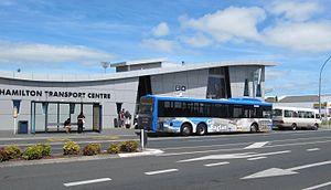 Public transport in Hamilton and Waikato - Hamilton Transport Centre from Anglesea St