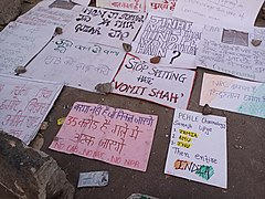 Handmade posters at Shaheen Bagh protests.jpg