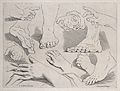 Hands and feet in outline. Engraving after C. Le Brun. Wellcome V0009415.jpg