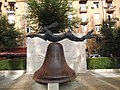 Hare on Bell on Portland Stone Piers Yerevan August 2016.jpg