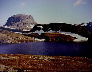 Hardangervidda - Hårteigen, a characteristic mountain on Hardangervidda