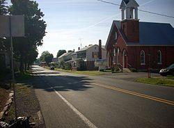 Pennsylvania Route 45 passes through Hartleton