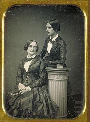 Matilda Hays - Matilda Hays (standing) with Charlotte Cushman, 1858