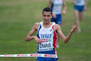Hassan Chahdi - Chahdi winning the European under-23 cross country title in 2010