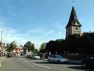Hayes, Bromley - Image: Hayes Street BR2 with the parish church geograph.org.uk 43878
