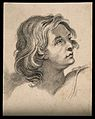 Head of an angel. Drawing, c. 1791, after G. Reni. Wellcome V0009172.jpg