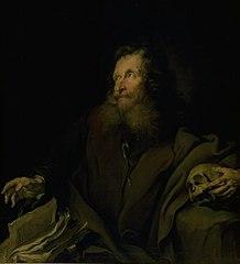 Wax Modeller Simon as St. Jerome
