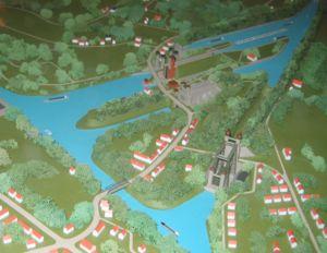 Henrichenburg boat lift - Model of the Waltrop Lock Park