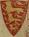 Henry III, King of England, coat of arms (Royal MS 14 C VII, 100r).jpg