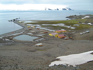 Antarctic base in King George Island