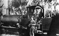 Hepburn Mackenzie's Murray and Paterson loco (205 of 1886, ex BATCo Woolgoolga) on Fraser Island, after 1918 (Bruce Macdonald collection).png