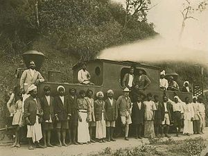 Kundala Valley Railway - The engineer G. S. Gilles at Munnar Blairgowrie Halt
