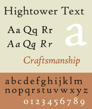 Hightower Text - Image: Hightower Text