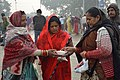 Hindu Devotees Preparing For Ganga Puja - Makar Sankranti Observance - Baje Kadamtala Ghat - Kolkata 2018-01-14 6850.JPG