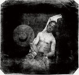 Hippolyte Bayard - Self portrait as a drowned man, direct positive print