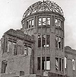 Hiroshima Peace Memorial, a remnant of the city at ground zero of its nuclear bombardment
