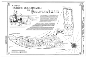 Historic map of Moultrieville on Sullivan's Island - Nathaniel Barnwell House, 1023 Middle Street, Sullivans Island, Charleston County, SC HABS SC-875 (sheet 2 of 12).png