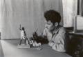 Historic photo of New Deal era artists creating Tumacácori's dioramas (1215ef22-10df-4d25-83e2-e74f590e4713).TIF