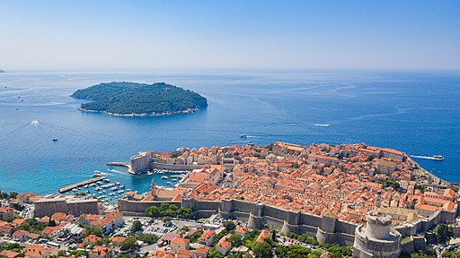 Historical center of Dubrovnik with a view to the Lokrum island, Croatia (48613140017)