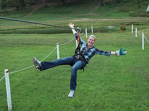 Zip-line - Hocking Peaks Adventure Park, Logan, Ohio
