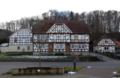 Hofbieber Langenbieber Half-timbered building An der Bieber near Church f.png