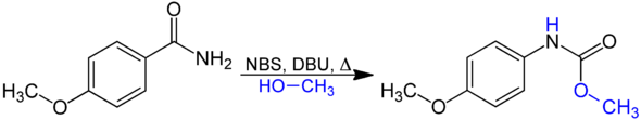 The Hofmann rearrangement using NBS