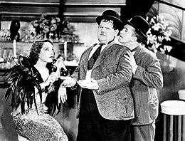 Ollio, Stanlio e Lupe Vélez in La grande festa (1934)