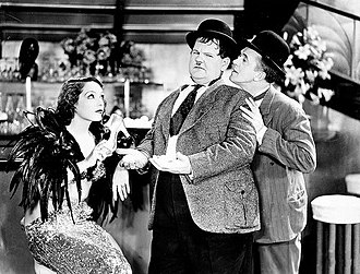 Cinema of the United States - Laurel and Hardy with Lupe Vélez in Hollywood Party (1934)