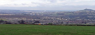 Honley - Image: Honley Viewed from Oldfield Road (RLH)