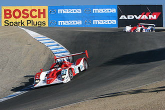 "WeatherTech Raceway Laguna Seca - A view of the ""Corkscrew"" from the bottom"