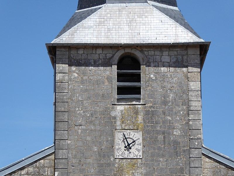 Détail de l'église d'Harmonville en Meurthe-et-Moselle.