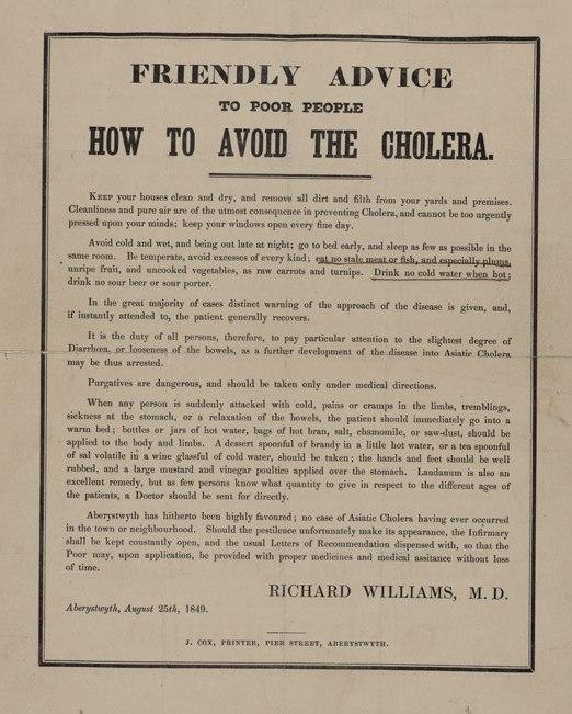 How to avoid the Cholera 1848
