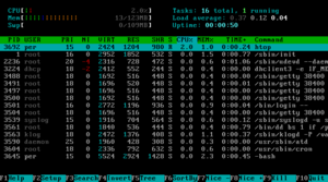 Process (computing) - A list of processes as displayed by htop