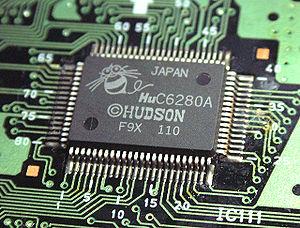 Hudson Soft HuC6280 - Image: Hu C6280A 01