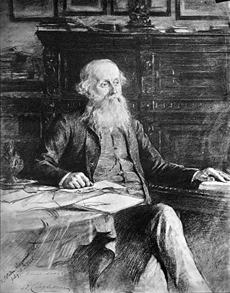 Hugh Cleghorn (forester) - Dr. Hugh Cleghorn, charcoal drawing made by Theodore Blake Wirgmann on 6 July 1888