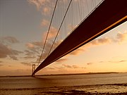 Humber Bridge Sunset Wideshot