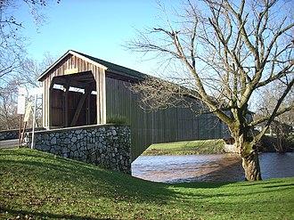 Hunsecker's Mill Covered Bridge - Image: Hunsecker's Mill Covered Bridge