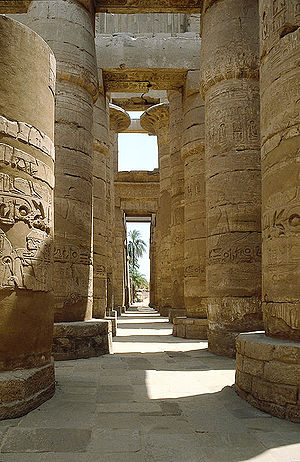 Ancient Egyptian architecture - The hypostyle hall of Karnak Temple