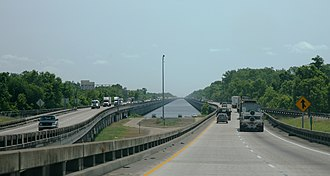 Interstate 10 in Louisiana - Atchafalaya Swamp Freeway in Iberville Parish