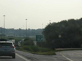 Interstate 76 in Ohio - The western terminus of I-76 in Ohio at I-71