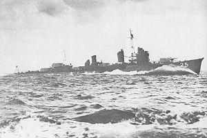"""USS Albacore (SS-218) - IJN """"Ohshio""""."""