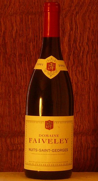 Domaine Faiveley - A bottle of Nuits-Saint-Georges wine from Domaine Faiveley