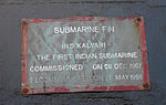 INS Kalvari Submarine Fin at RK Beach 02.JPG